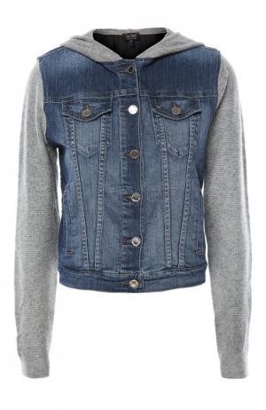 Куртка джинсовая Armani Jeans. Цвет: серый