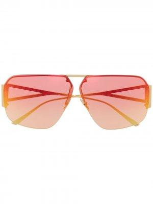 Солнцезащитные очки-авиаторы BV1065S Bottega Veneta Eyewear. Цвет: золотистый
