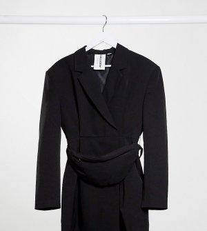 Платье-пиджак с сумкой-кошельком на пояс COLLUSION-Черный цвет Collusion