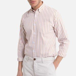 Рубашка-слим LaRedoute. Цвет: желтый