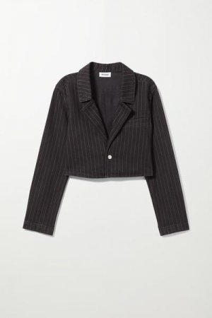 Пиджак из денима Verdin Weekday. Цвет: черный