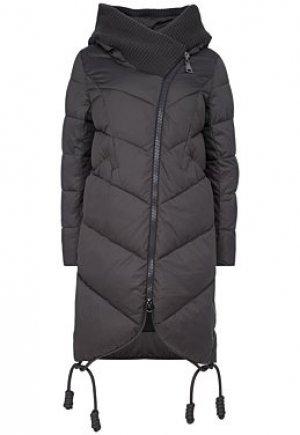 Стеганое пальто с отделкой трикотажем Acasta
