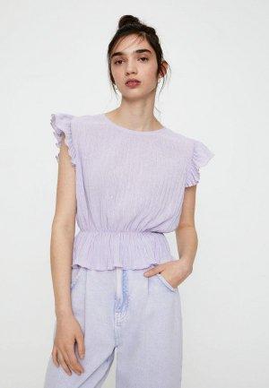 Блуза Pull&Bear. Цвет: фиолетовый
