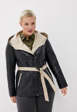 Куртка кожаная Снежная Королева. Цвет: синий