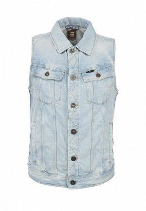 Жилет джинсовый G-Star GS001EMBEL34. Цвет: голубой