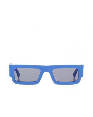 Солнечные очки MARCELO BURLON. Цвет: синий