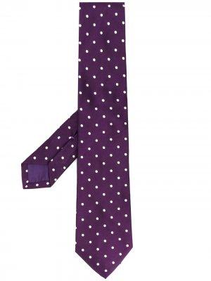 Галстук в горох Ralph Lauren Purple Label. Цвет: фиолетовый