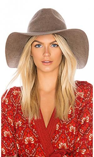 Шляпа федора aimee Brixton. Цвет: серо-коричневый