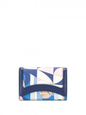 Картхолдер с абстрактным принтом Emilio Pucci. Цвет: синий