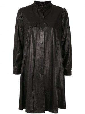 Платье-рубашка BCBG Max Azria. Цвет: черный