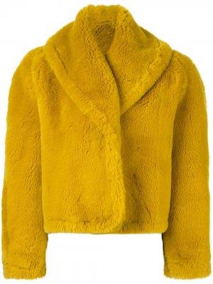 Шуба из искусственного меха Jean Paul Gaultier Pre-Owned. Цвет: желтый