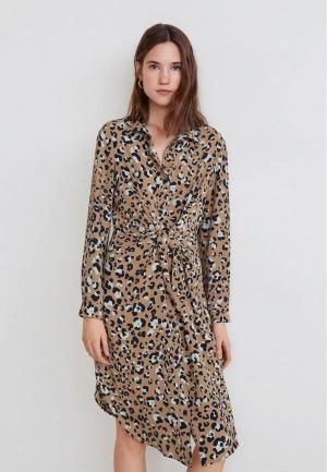 Платье Mango - TOKY4. Цвет: бежевый