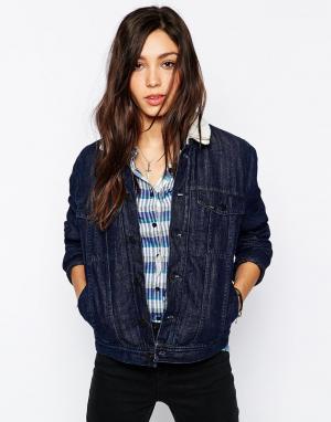 Джинсовая куртка с пайетками Kansas Riders Lee Jeans. Цвет: черный
