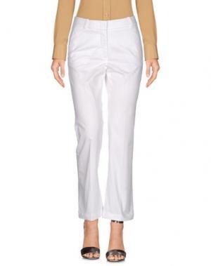 Повседневные брюки CAPPELLINI by PESERICO. Цвет: белый
