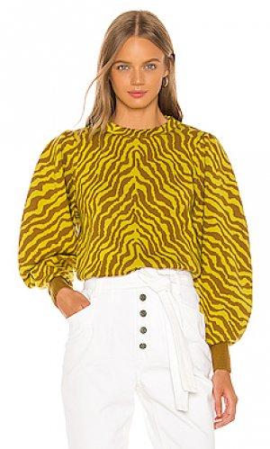 Пуловер massey Ulla Johnson. Цвет: желтый