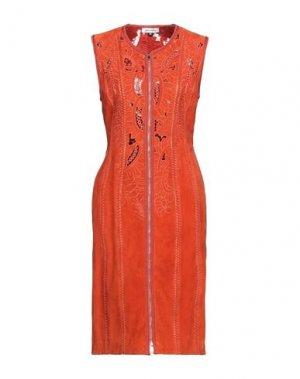 Платье до колена JITROIS. Цвет: оранжевый