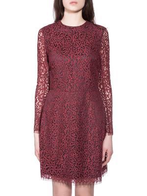 Платье CARVEN. Цвет: бордовый