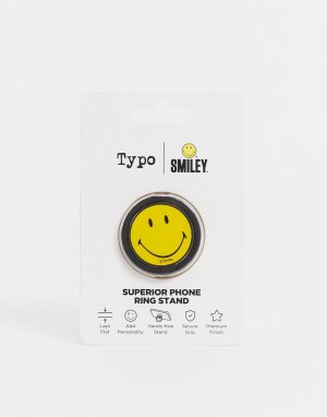 Кольцо-подставка для телефона Typo x Smiley-Желтый
