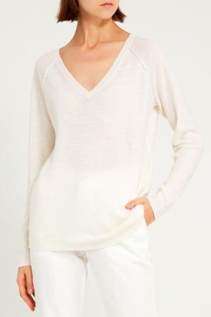 Белый пуловер NOT SHY. Цвет: бежевый