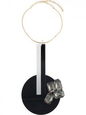 Массивное колье Gianluca Capannolo. Цвет: золотистый