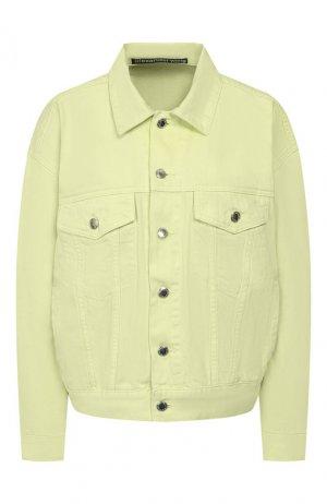 Джинсовая куртка Denim X Alexander Wang. Цвет: желтый