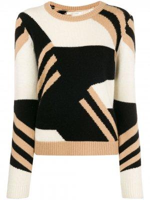 Colour block crew neck sweater Chinti and Parker. Цвет: черный
