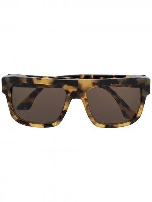 Солнцезащитные очки Felony в квадратной оправе Thierry Lasry. Цвет: коричневый