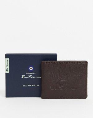 Кожаный бумажник -Коричневый Ben Sherman