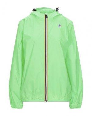 Куртка K-WAY. Цвет: кислотно-зеленый