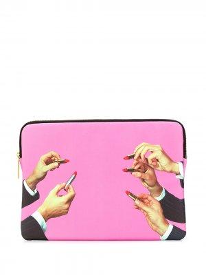 Чехол для ноутбука Seletti. Цвет: розовый