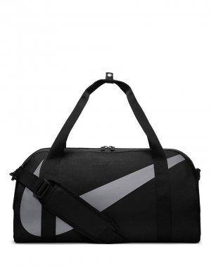 Черная спортивная сумка-бочонок -Черный Nike