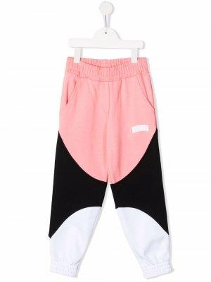Colour-block track pants MSGM Kids. Цвет: розовый