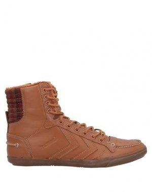 Кеды и кроссовки HUMMEL. Цвет: коричневый