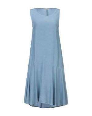 Платье до колена CAPPELLINI by PESERICO. Цвет: пастельно-синий
