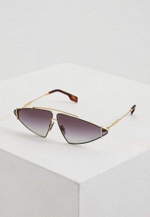 Очки солнцезащитные Burberry BE3111 10178G. Цвет: золотой