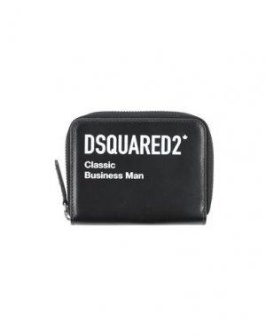Бумажник DSQUARED2. Цвет: черный