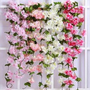 Декоративный ротанг с искусственными цветками 1шт SHEIN. Цвет: многоцветный
