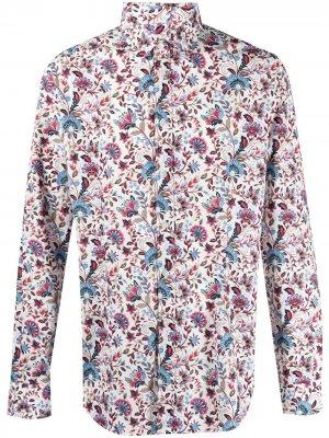 Рубашка с цветочным принтом Daniele Alessandrini. Цвет: белый
