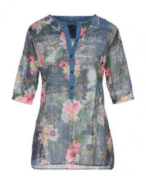 Блузка AVANTGAR DENIM by EUROPEAN CULTURE. Цвет: синий