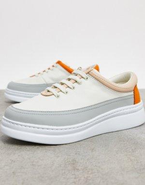 Белые кожаные кроссовки со вставками -Белый Camper