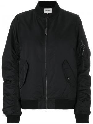 Дутая куртка-бомбер Carhartt. Цвет: чёрный