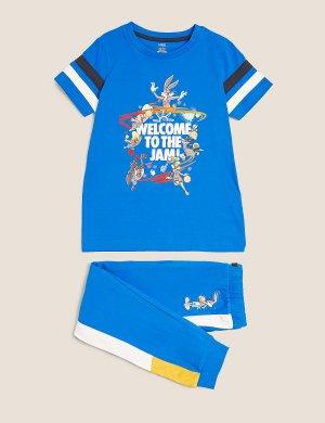 Space Jam: хлопковая пижама с принтом New Legacy ™ Marks & Spencer. Цвет: мульти