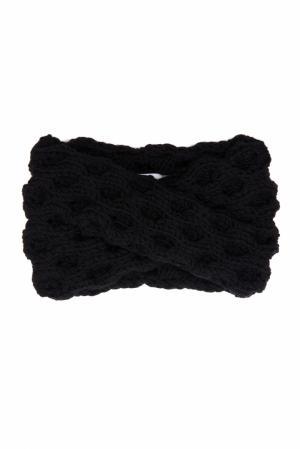 Шерстяная повязка 7II. Цвет: черный