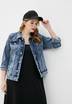 Куртка джинсовая Junarose. Цвет: синий