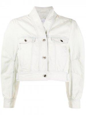 Укороченная джинсовая куртка Hena IRO. Цвет: нейтральные цвета