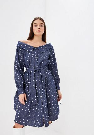 Платье Elle Land. Цвет: синий