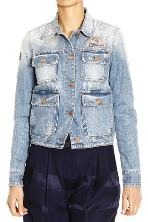 Джинсовая куртка M. GRIFONI. Цвет: синий