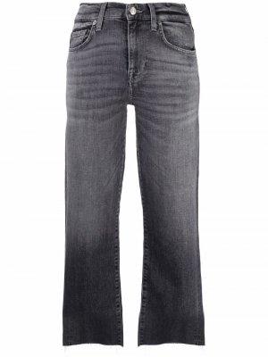 High-waist straight jeans 7 For All Mankind. Цвет: серый