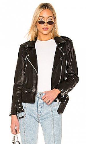 Кожаная куртка annina ALLSAINTS. Цвет: черный