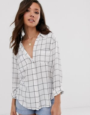Рубашка Abercrombie & Fitch. Цвет: белый